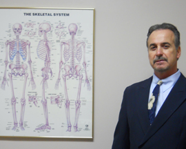 Dr. Eiban with anatomy chart